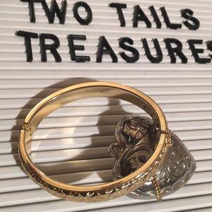 Vintage 14kt plated over sterling silver bracelet
